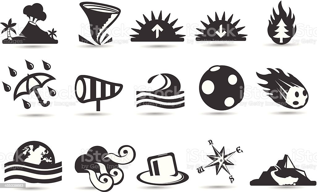 Global Warmiing Icons royalty-free stock vector art