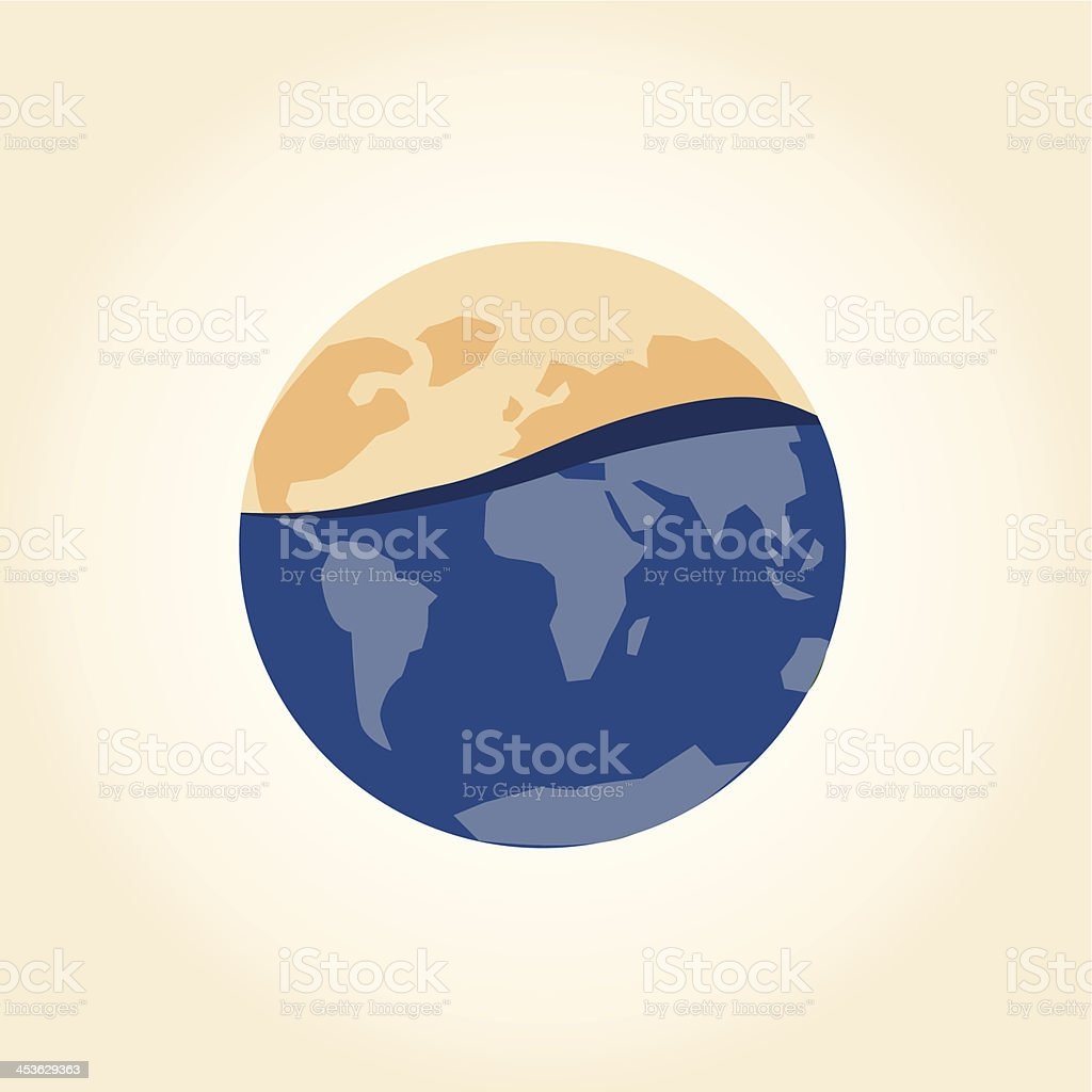 Global warming concept royalty-free stock vector art