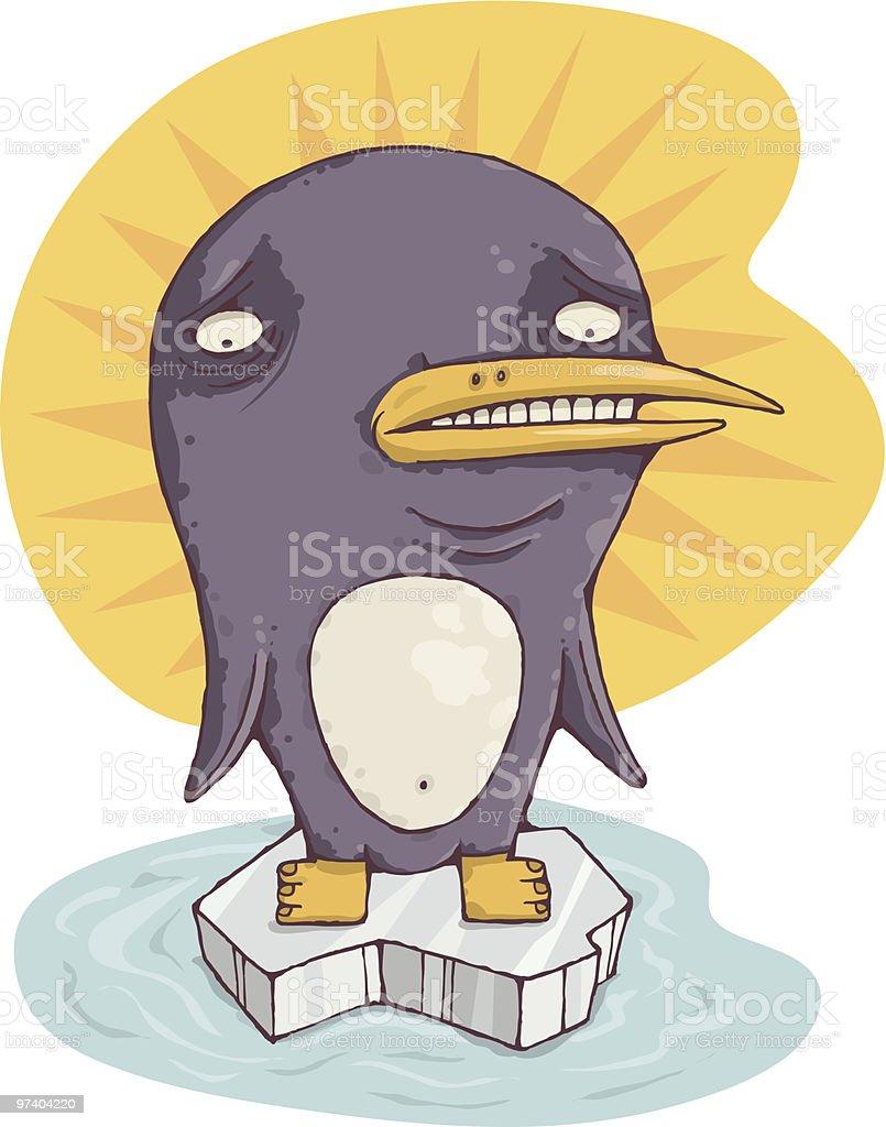 Global Warming Penguin royalty-free stock vector art