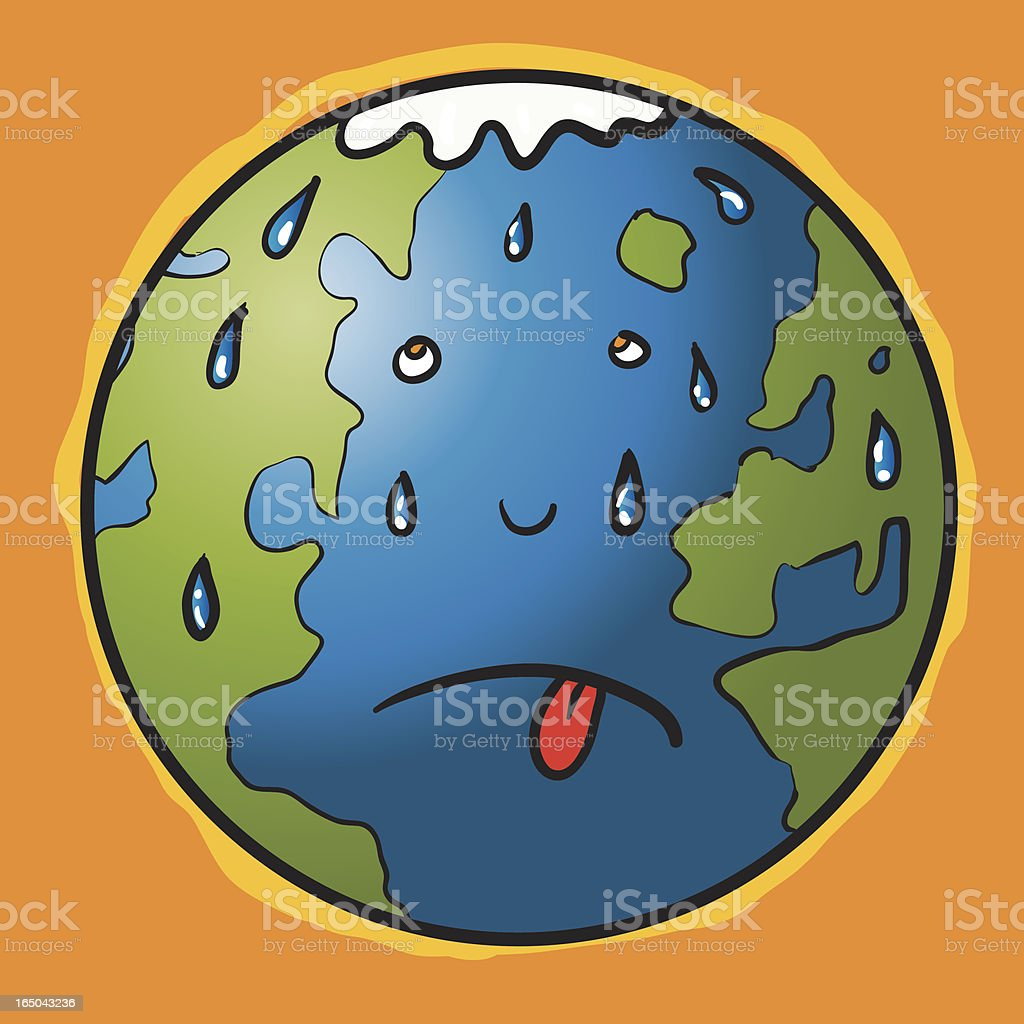 global warming sweat royalty-free stock vector art