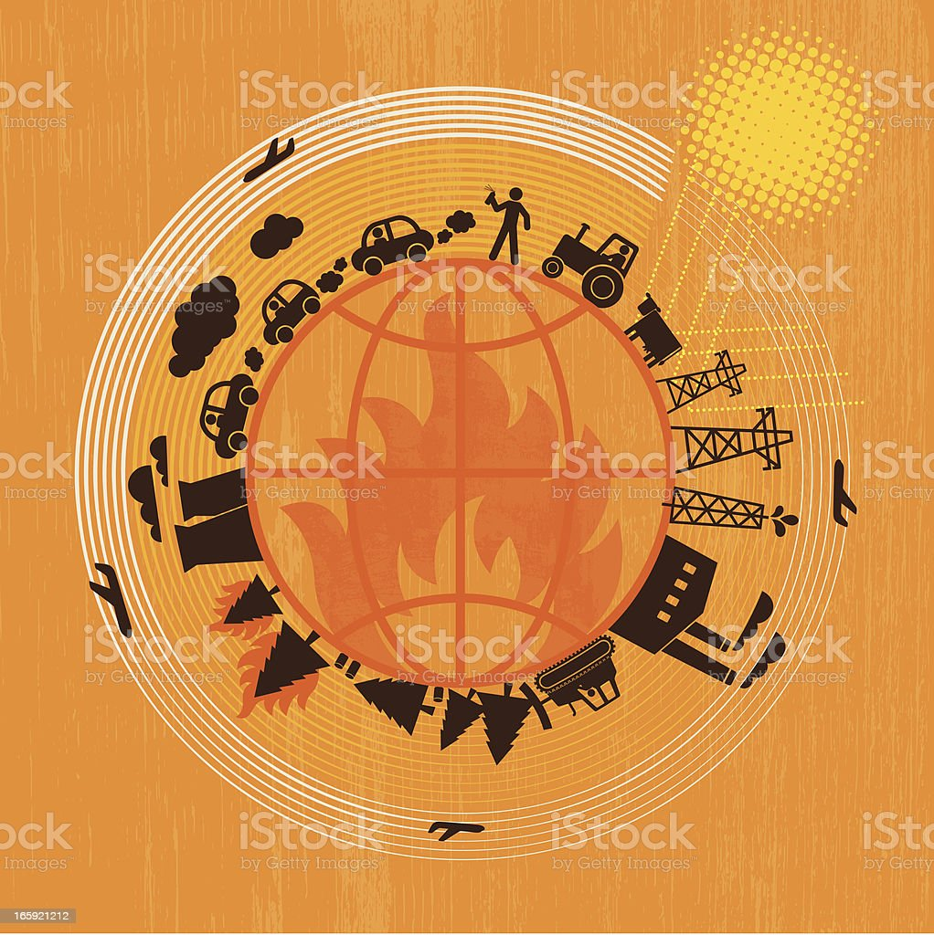 Global Warming royalty-free stock vector art