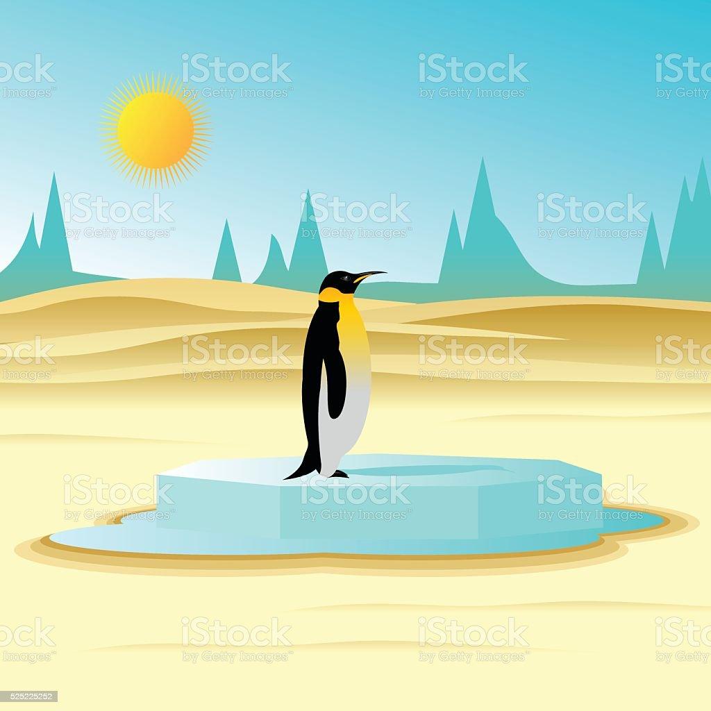 global warming. vector art illustration
