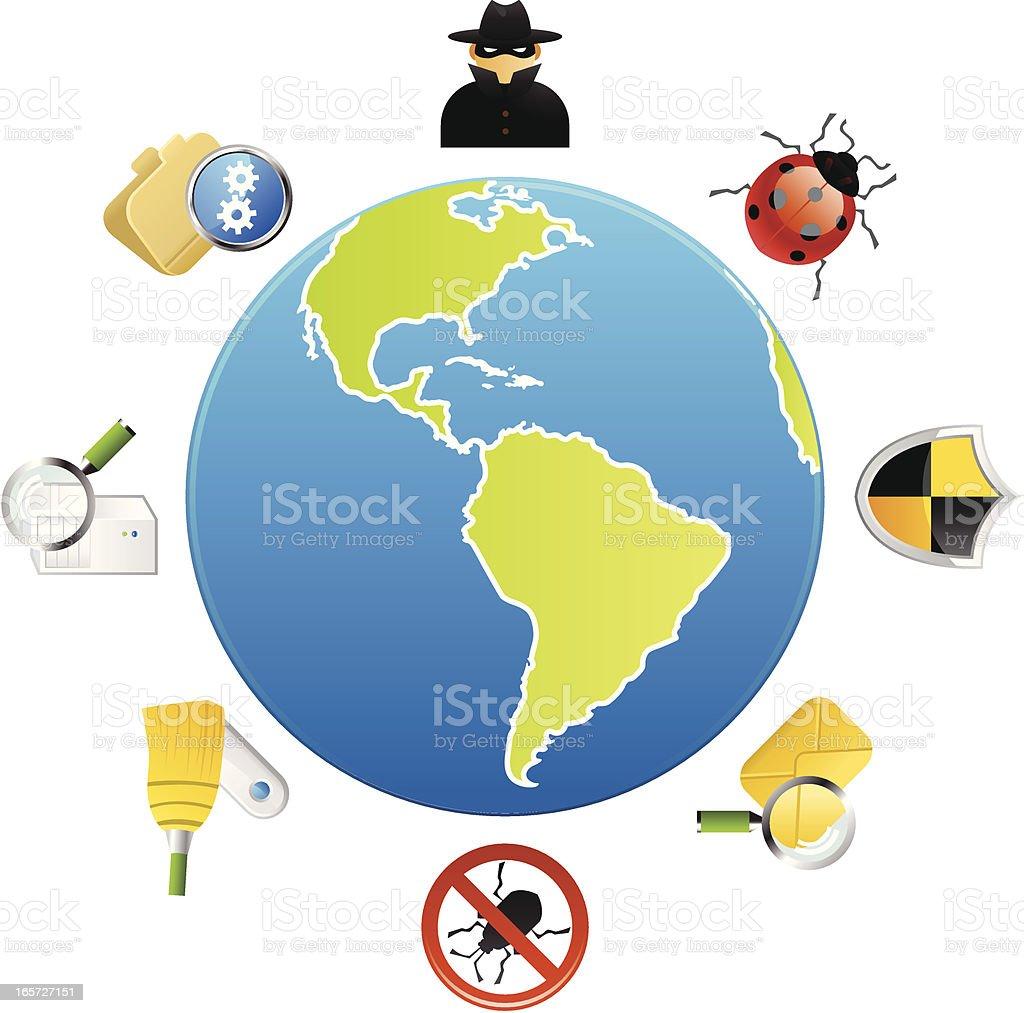 Global Web Security royalty-free stock vector art