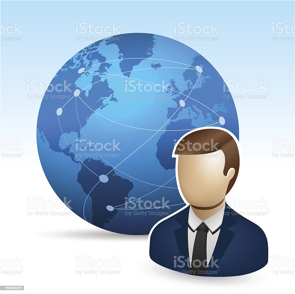Globe and business man royalty-free stock vector art