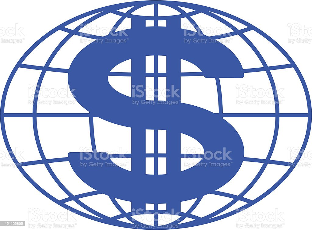 Globe and dollar royalty-free stock vector art