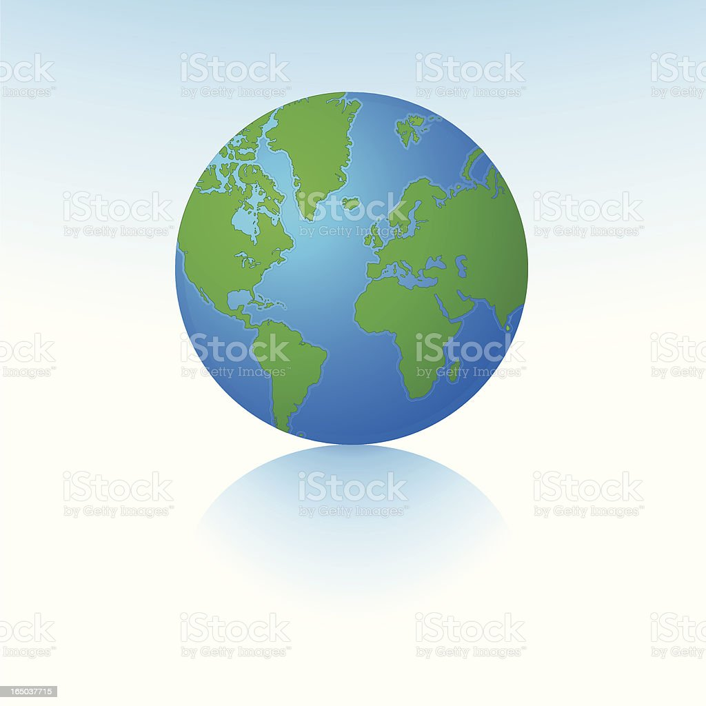 Globe at Central World Position royalty-free stock vector art