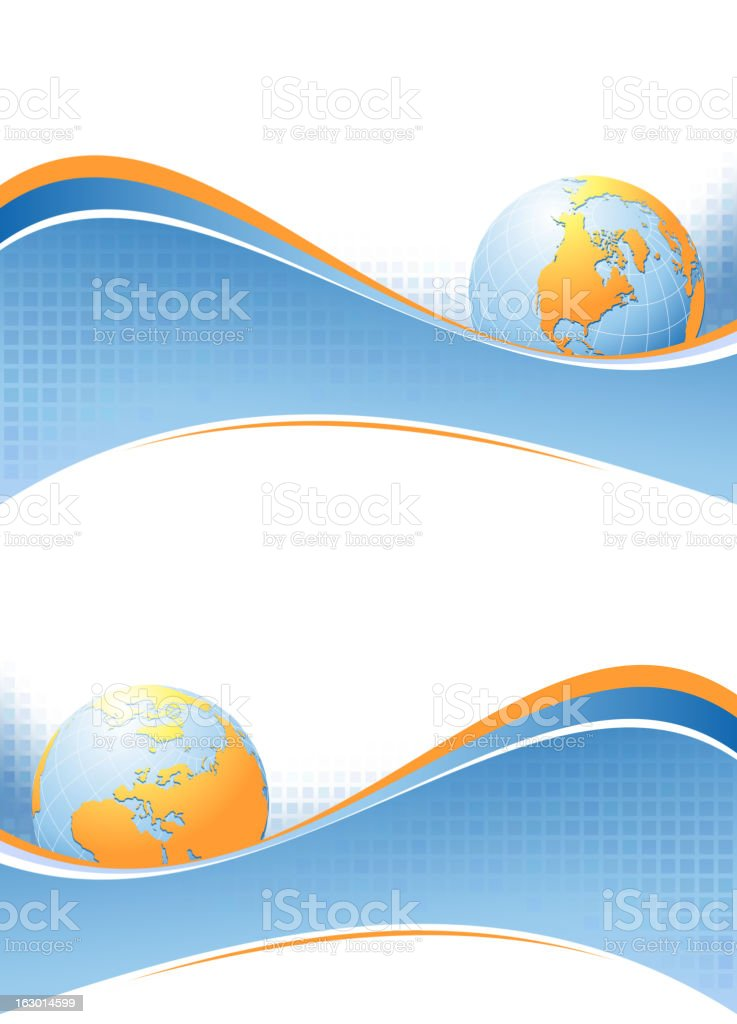 Globe background royalty-free stock vector art