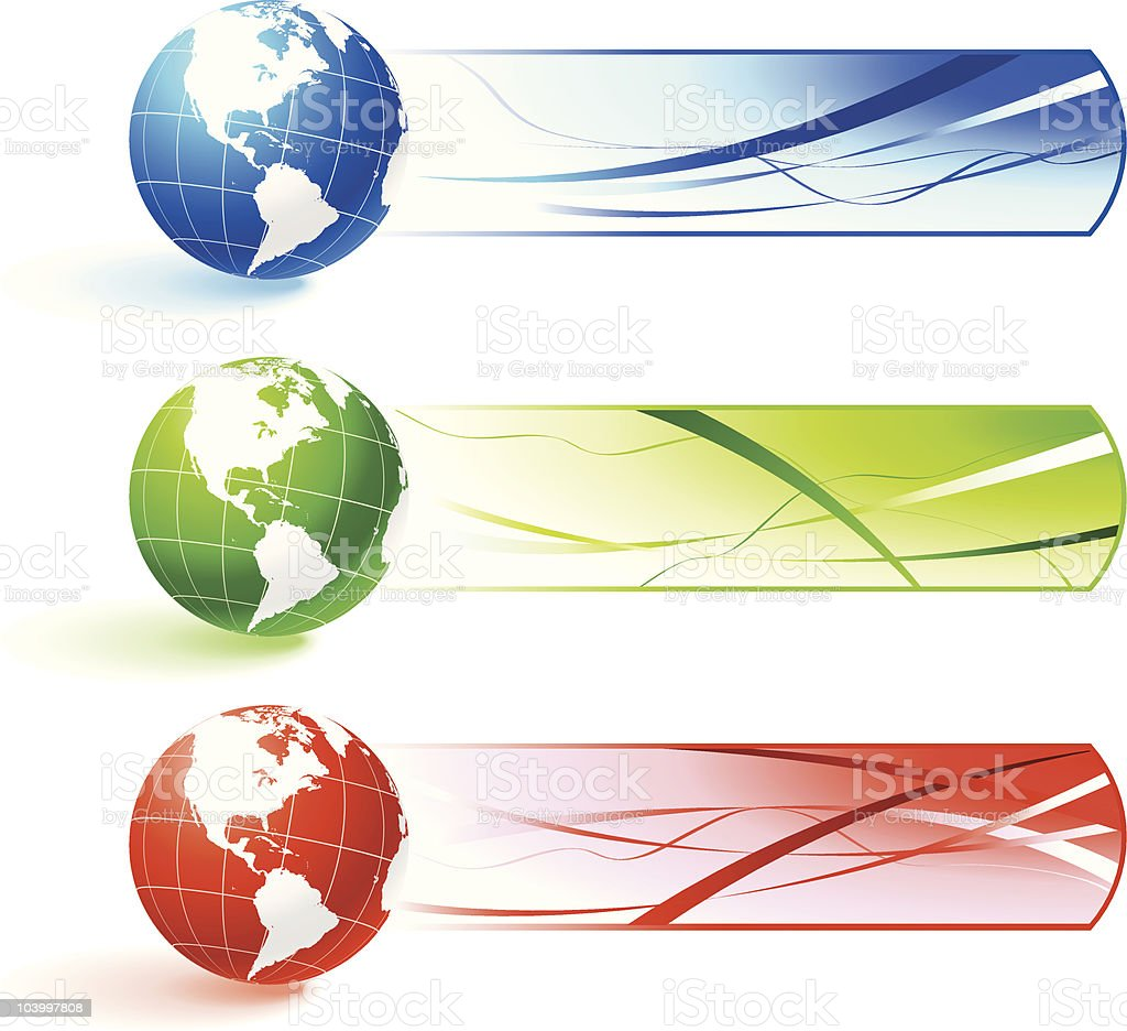 Globe banners royalty-free stock vector art