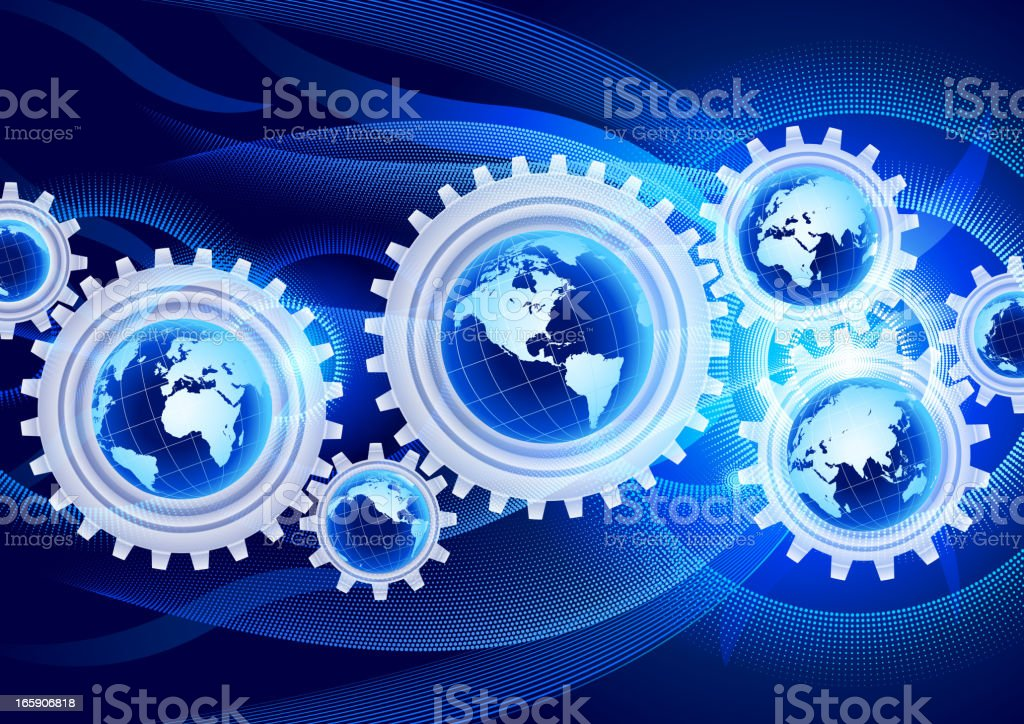 Globe global communication royalty-free stock vector art