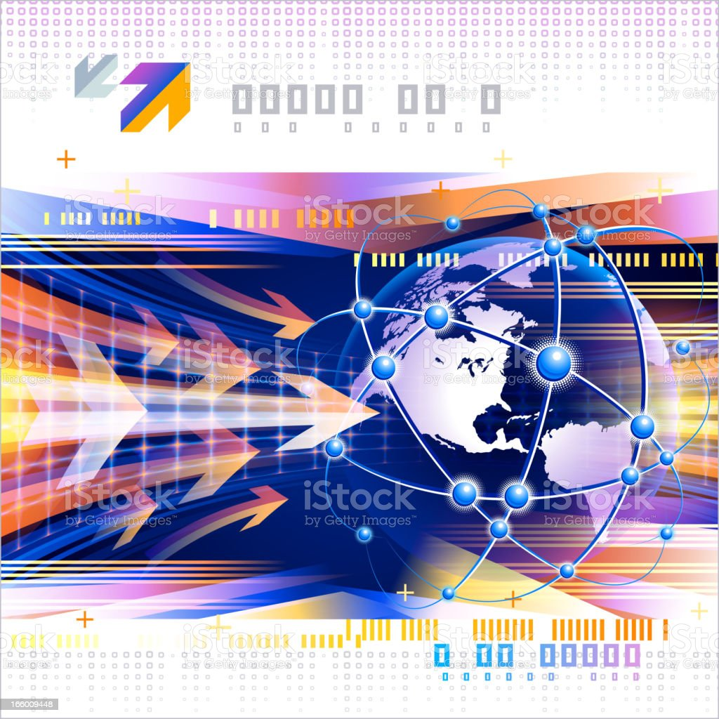 Globe global communications royalty-free stock vector art