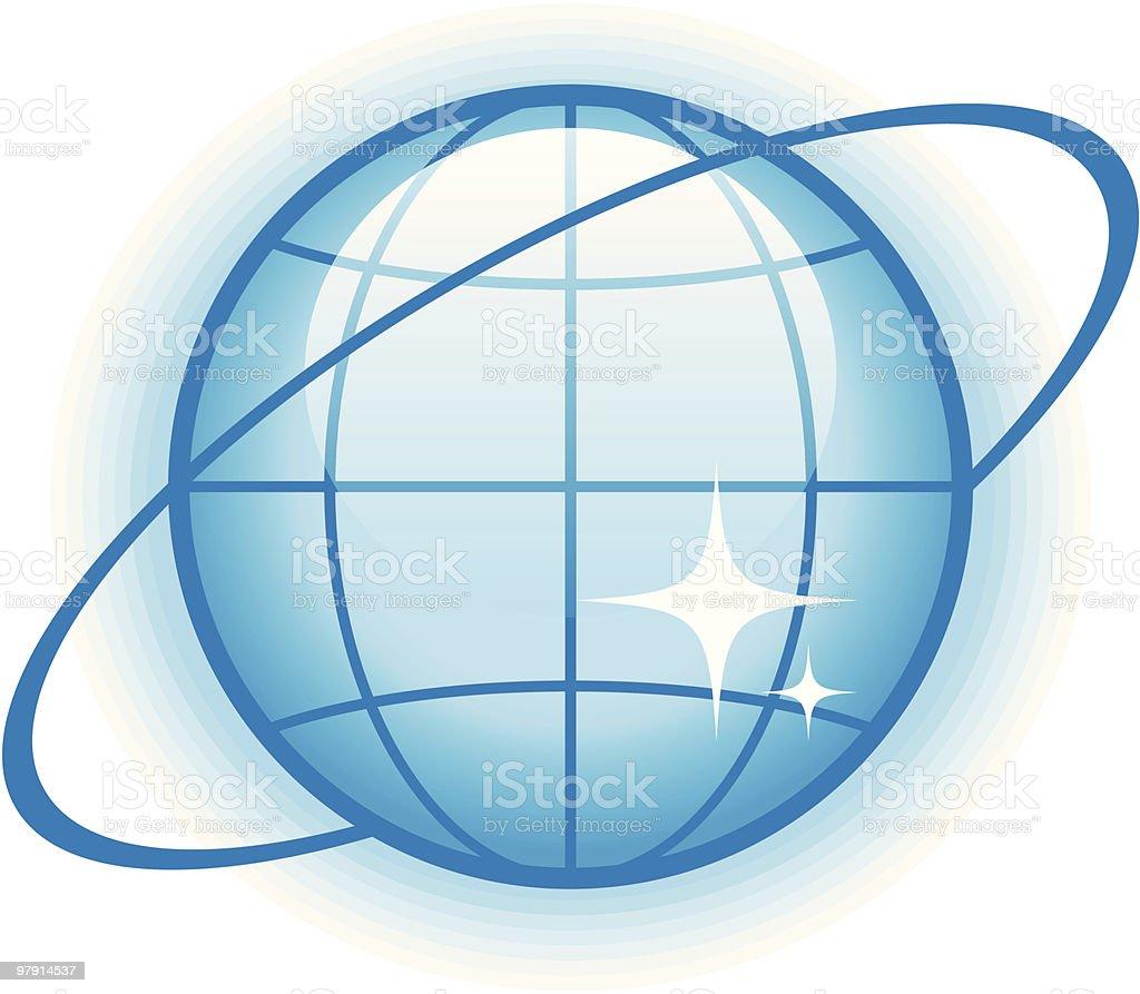 Globe Glossy Vector Icon vector art illustration