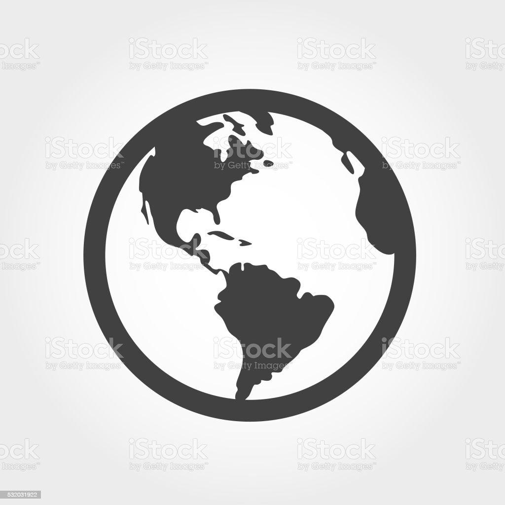 Globe Icon - Iconic Series vector art illustration