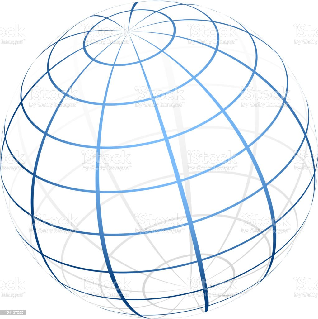 globe icon royalty-free stock vector art