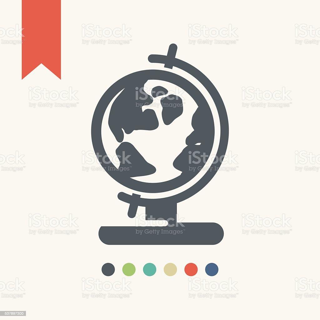 Globe icon vector art illustration