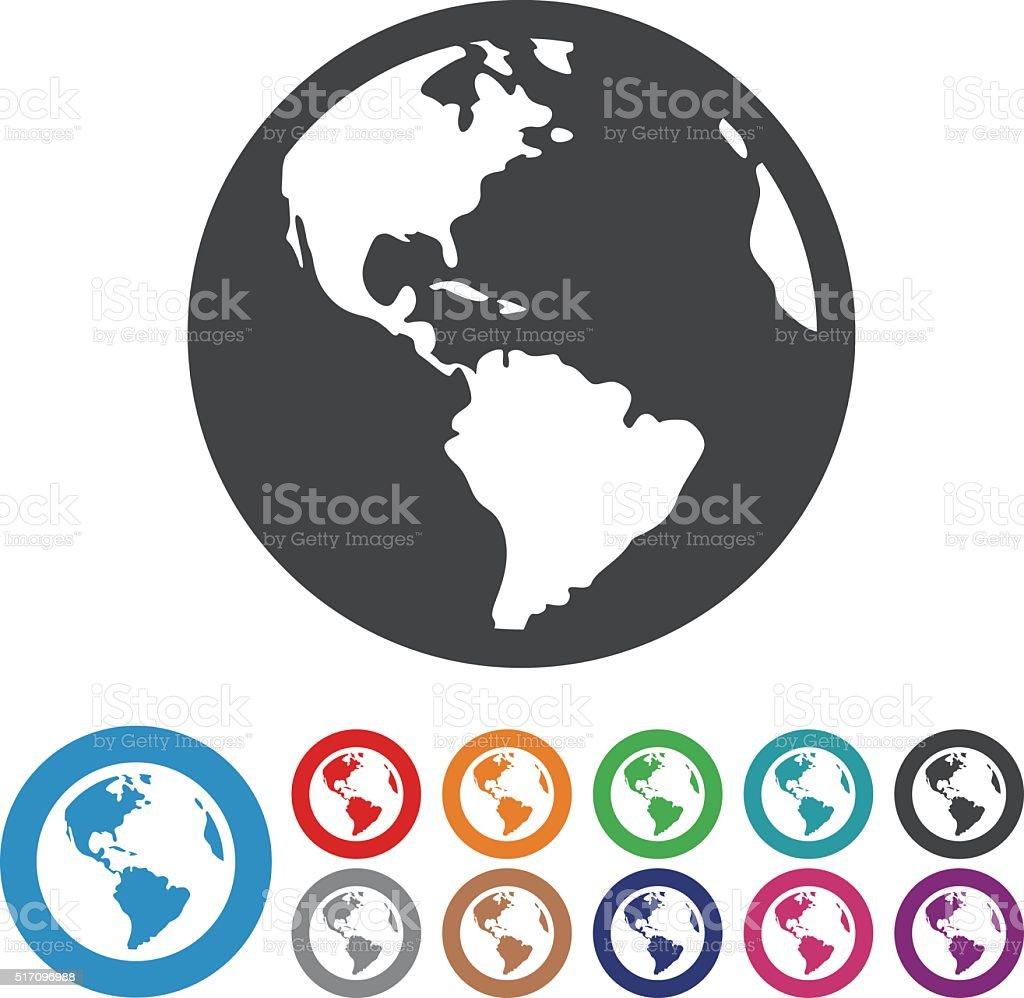 Globe Icons - Graphic Icon Series vector art illustration