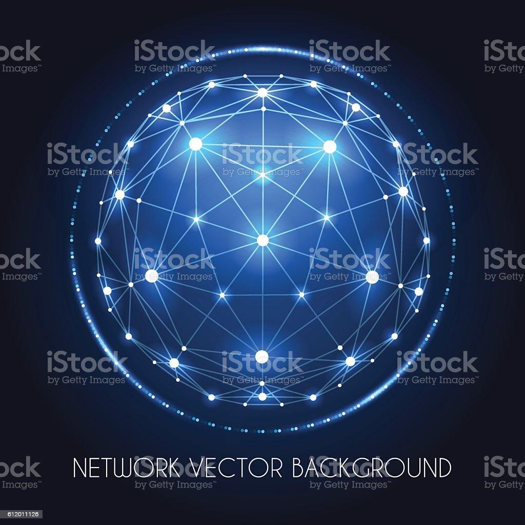 Globe network sphere connection concept vector art illustration