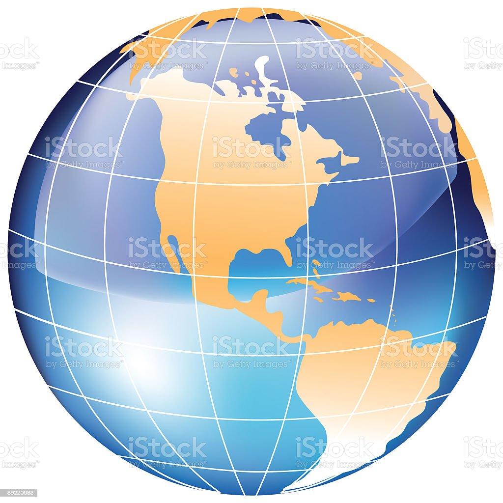 Globe - North America royalty-free stock vector art