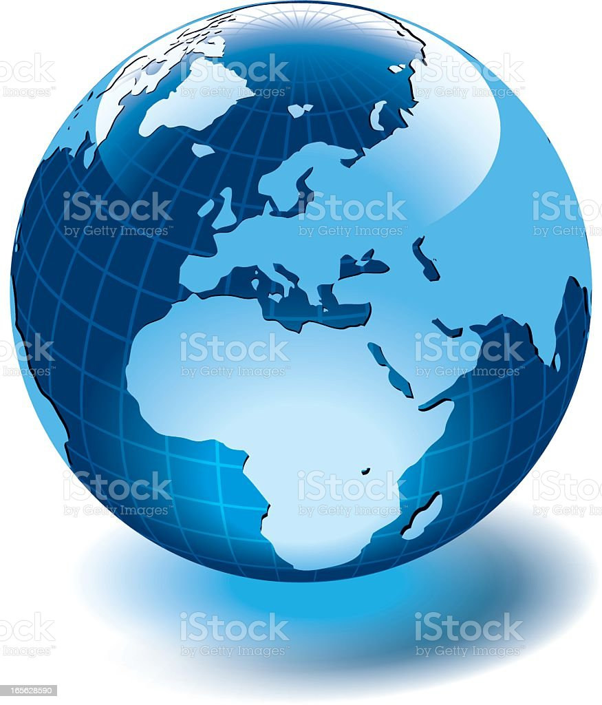 Globe of the World. Europe royalty-free stock vector art