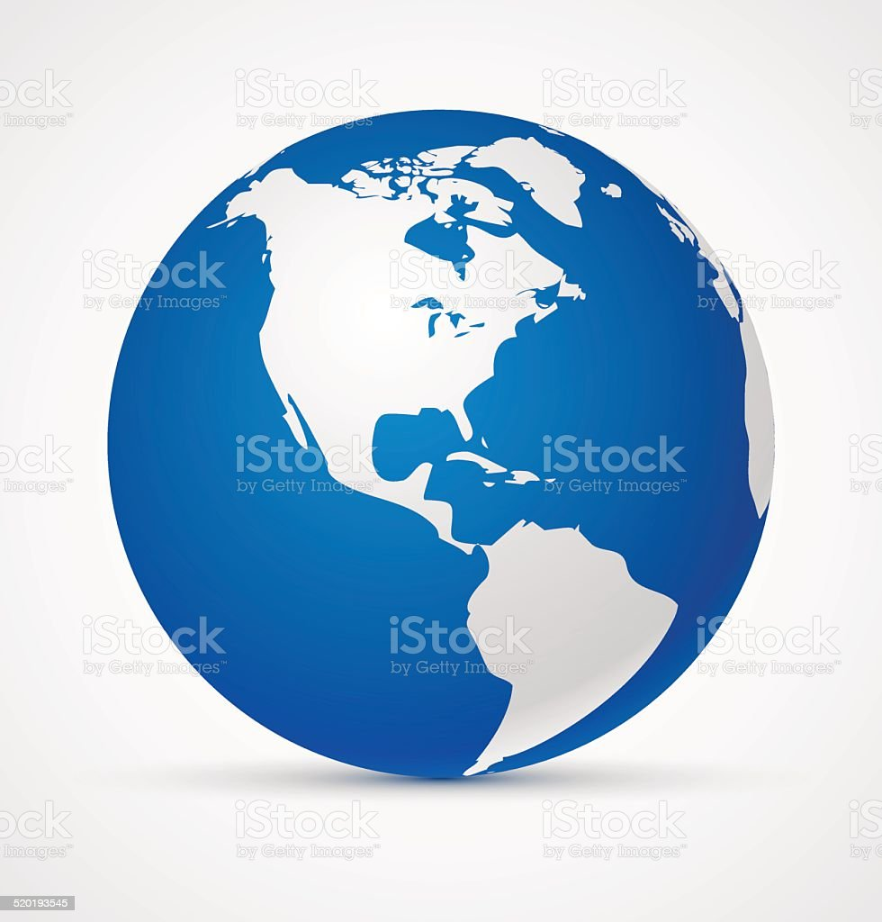 Globe of the world icon vector art illustration