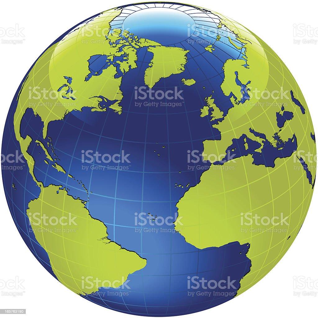 Globe of the World. royalty-free stock vector art