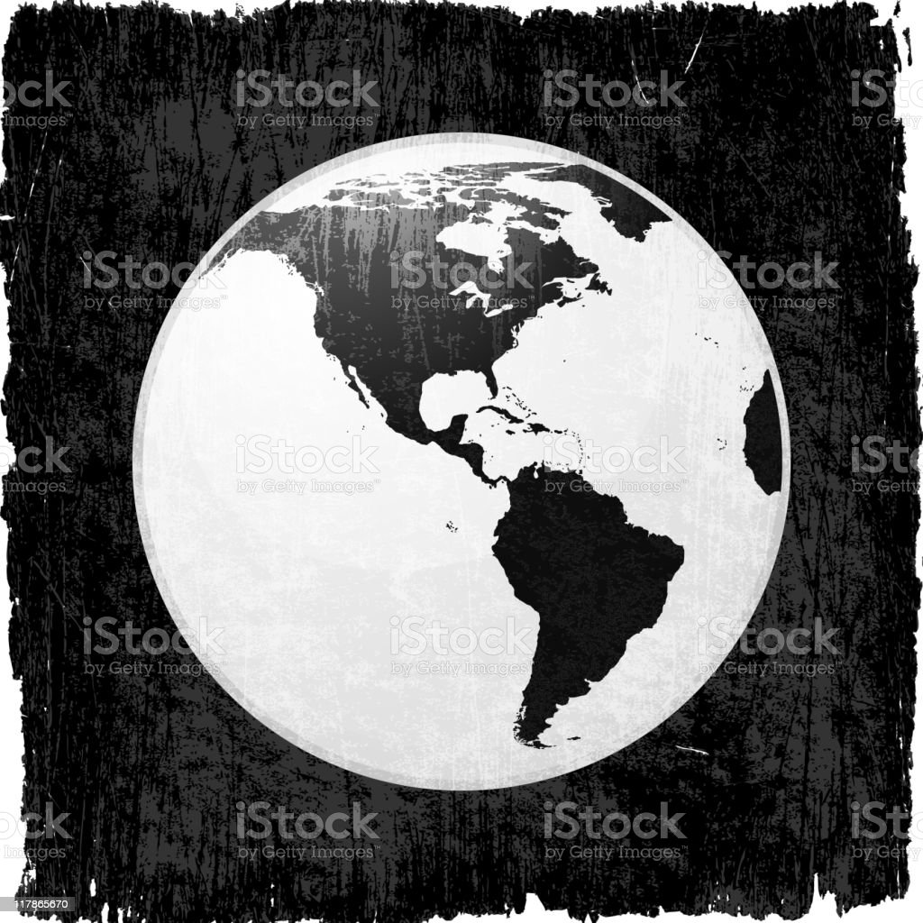 globe on royalty free vector Background royalty-free stock vector art