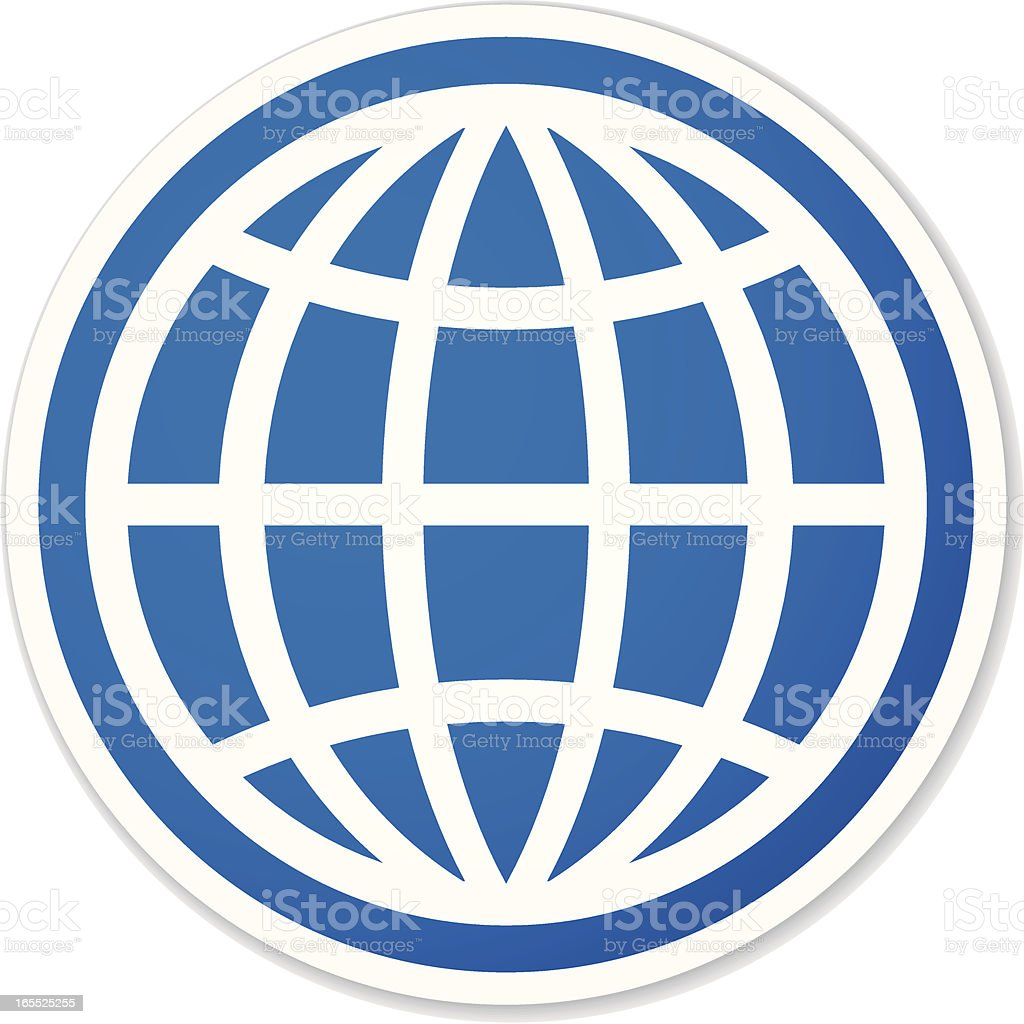 globe round sticker royalty-free stock vector art