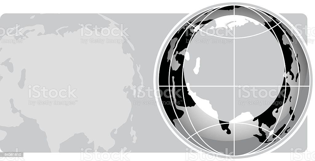 Globe Series - Asia royalty-free stock vector art