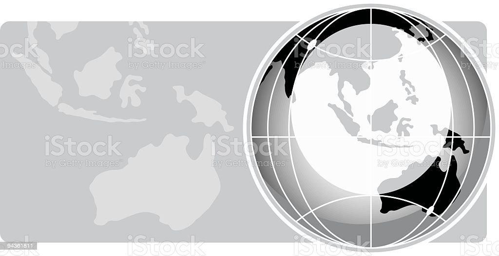 Globe Series - Australia royalty-free stock vector art