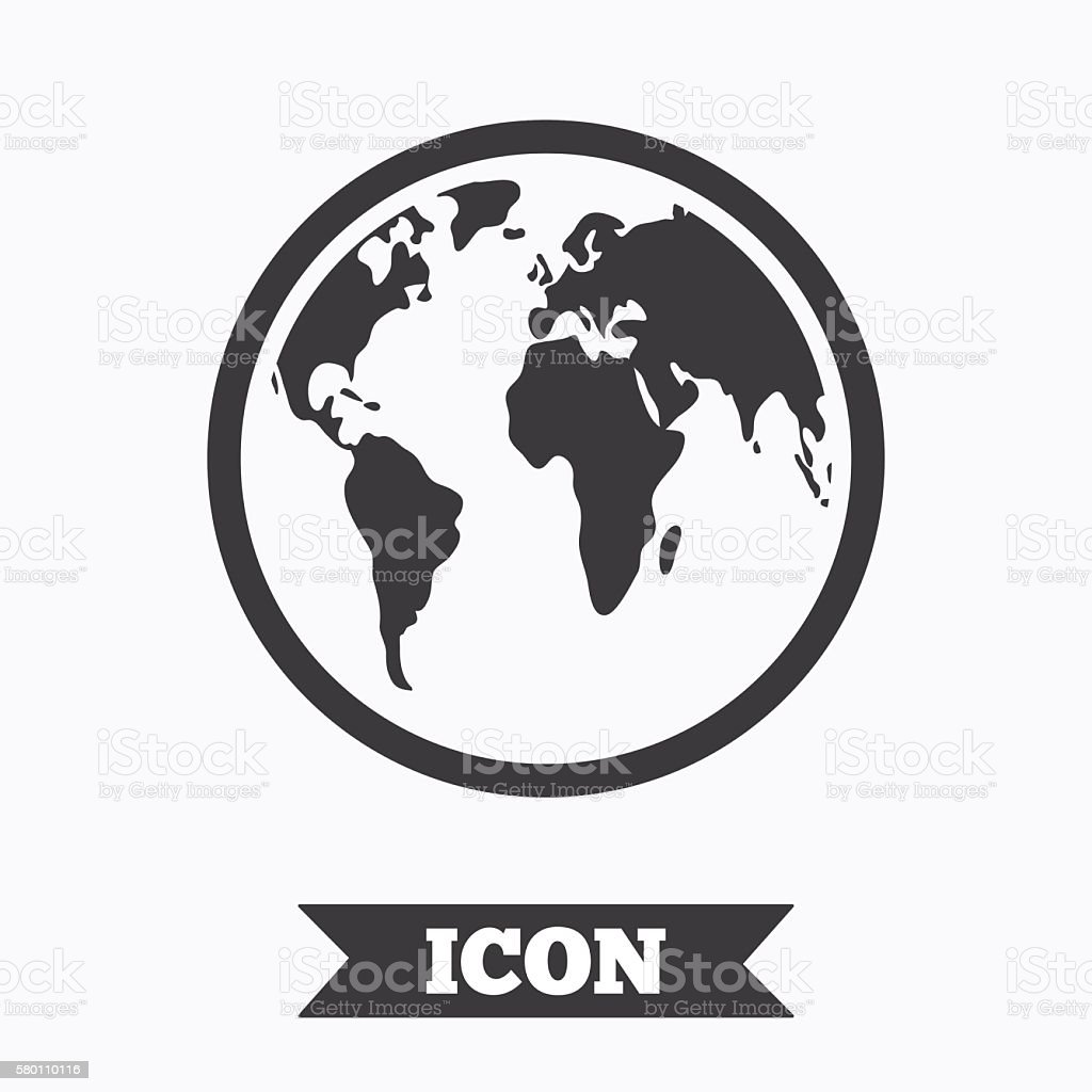 Globe sign icon world map geography symbol stock vector art world map geography symbol royalty free stock vector art gumiabroncs Choice Image