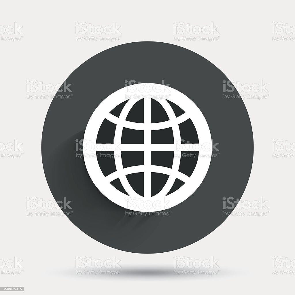 Globe sign icon. World symbol. vector art illustration