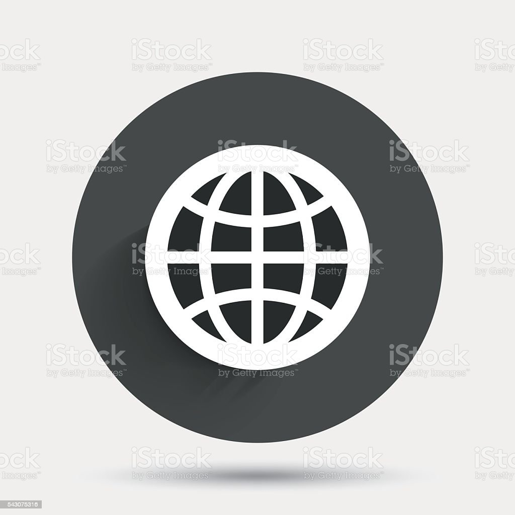 Globe sign icon. World symbol. vector art illustration
