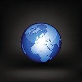 Globe. Vector icon