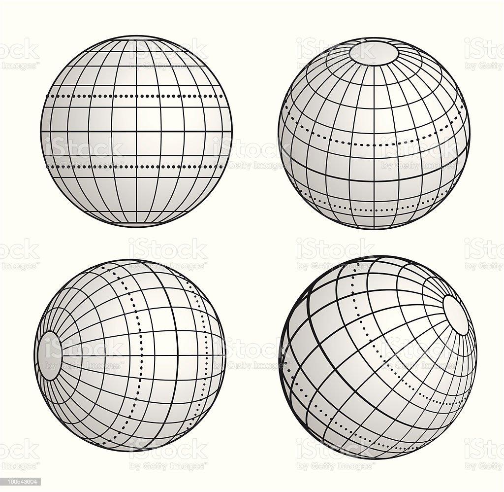 globe vector art illustration