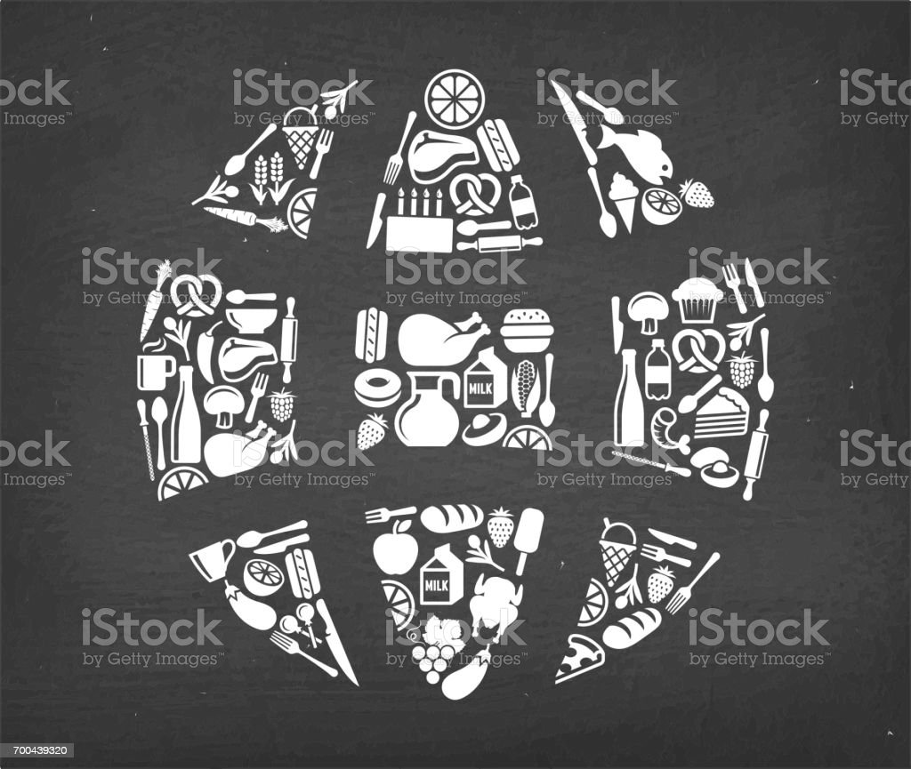Globe wireframe Food & Drink royalty free vector icon pattern. This...