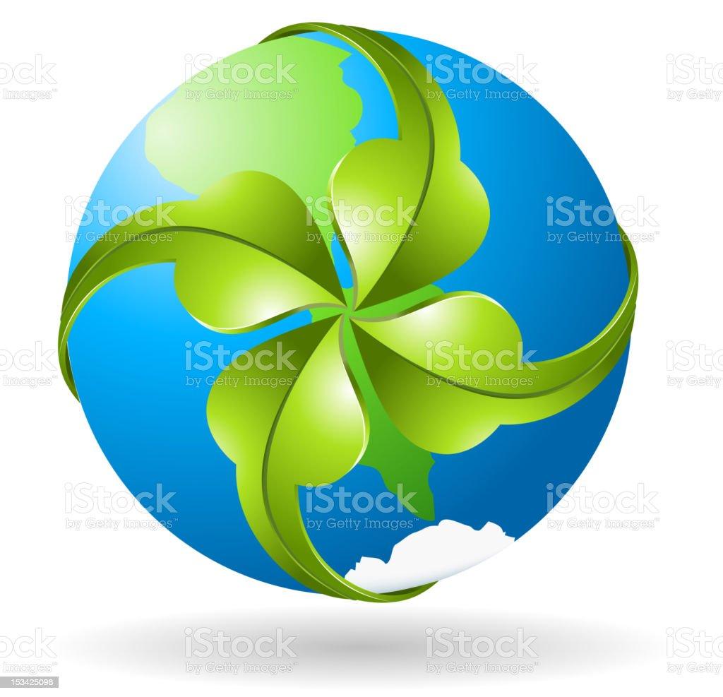Globe with arrow royalty-free stock vector art