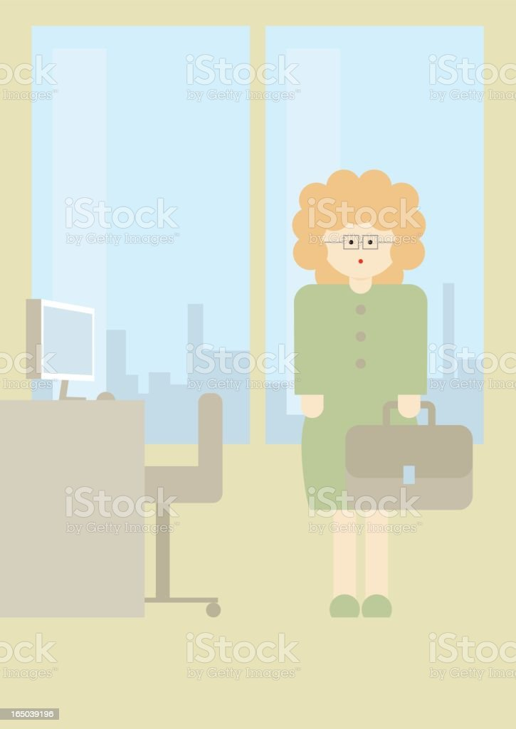 'Globi' business woman royalty-free stock vector art