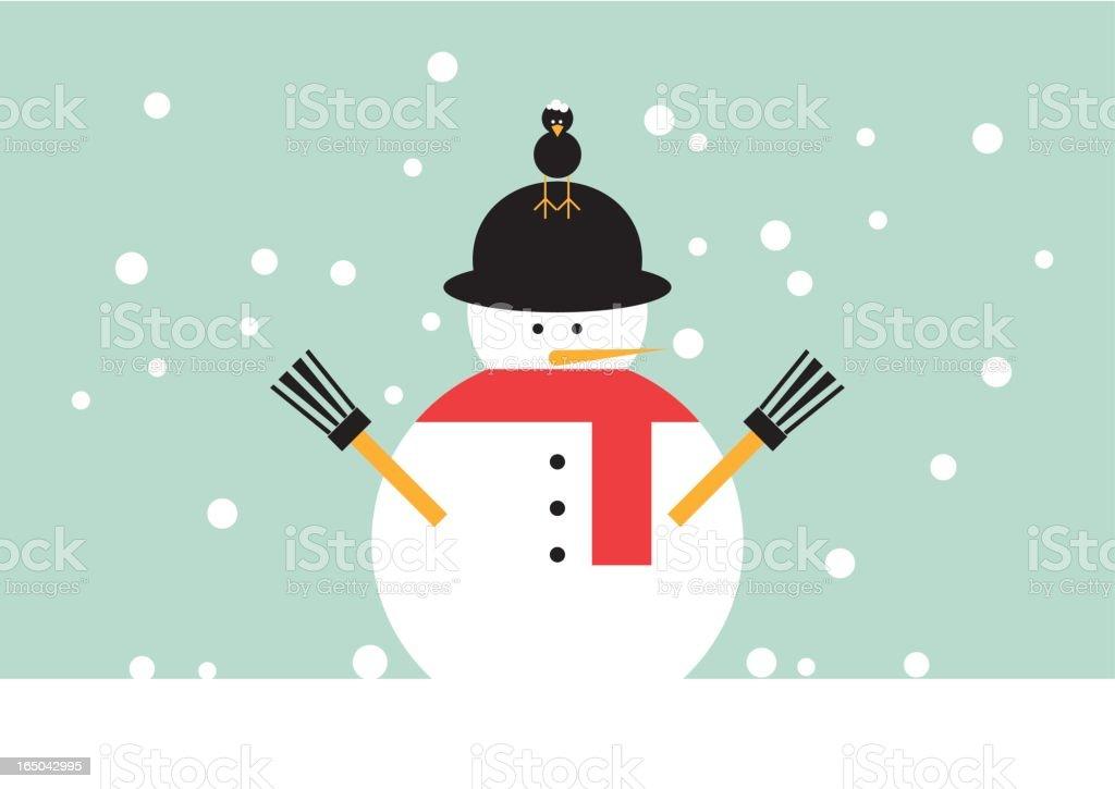 'Globi' christmas snowman royalty-free stock vector art