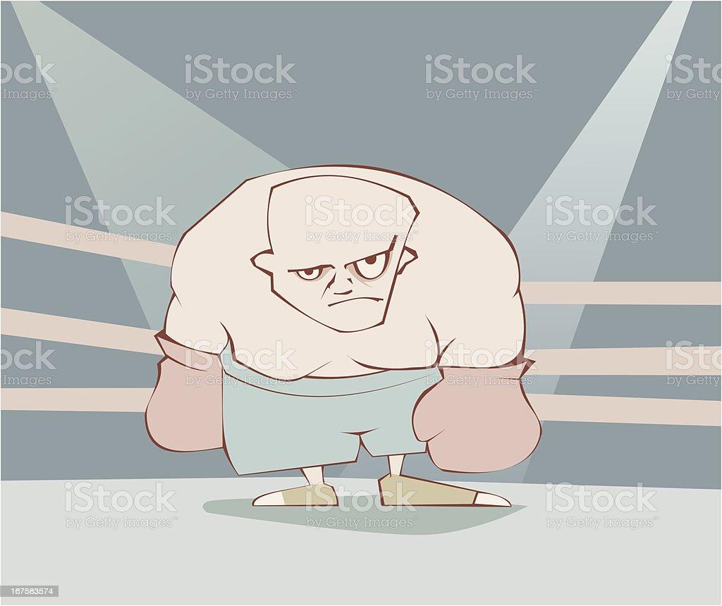 gloomy boxer royalty-free stock vector art