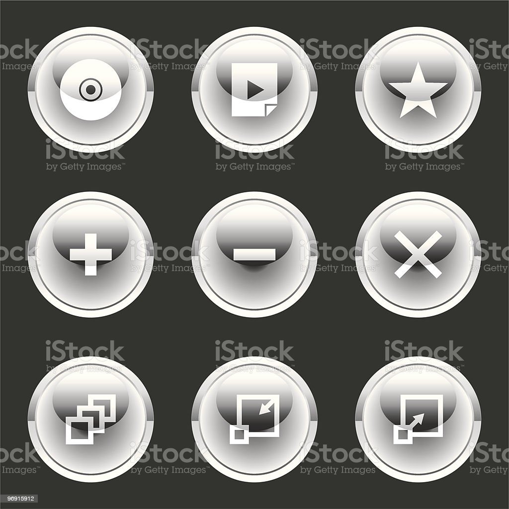 Glossee Orb Button royalty-free stock vector art