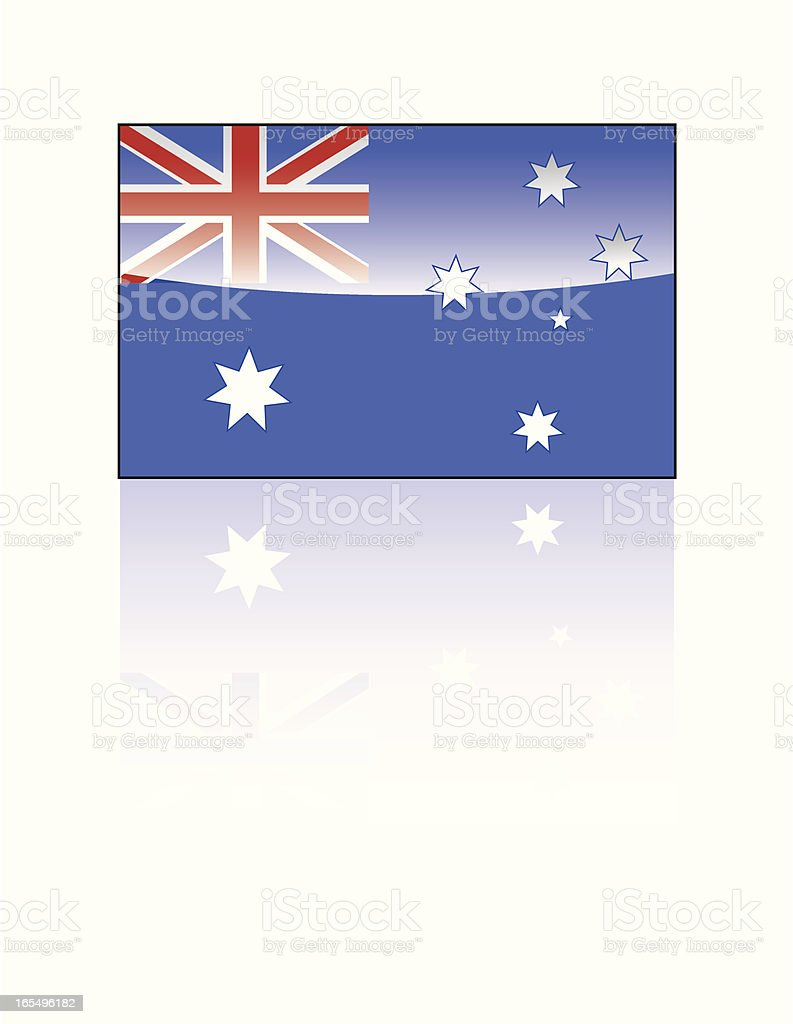 Glossy Australian Flag royalty-free stock vector art