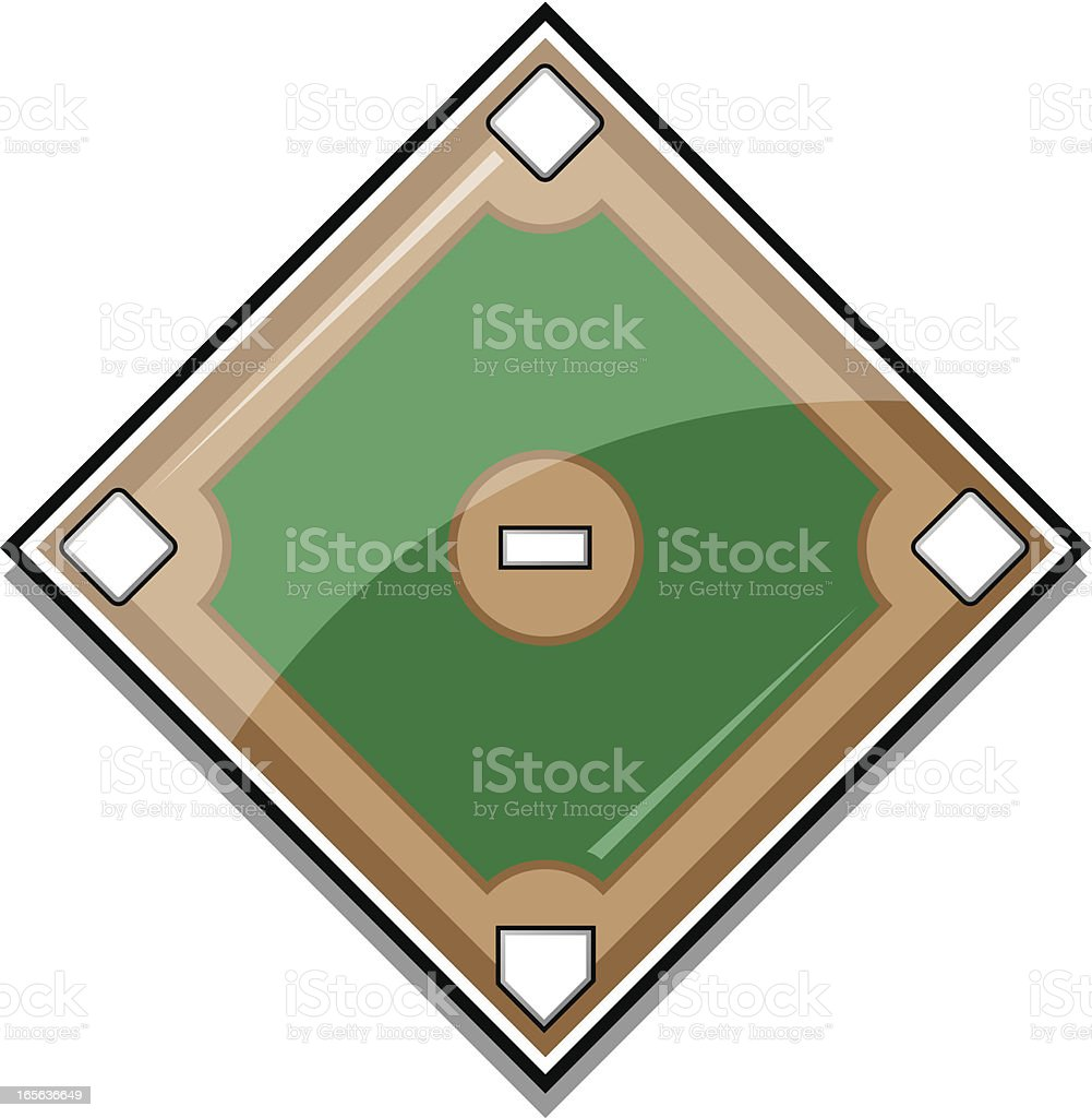 Glossy Baseball Diamond royalty-free stock vector art