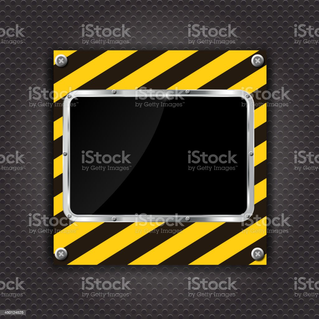 Glossy black plate on a construction background vector illustration royalty-free stock vector art