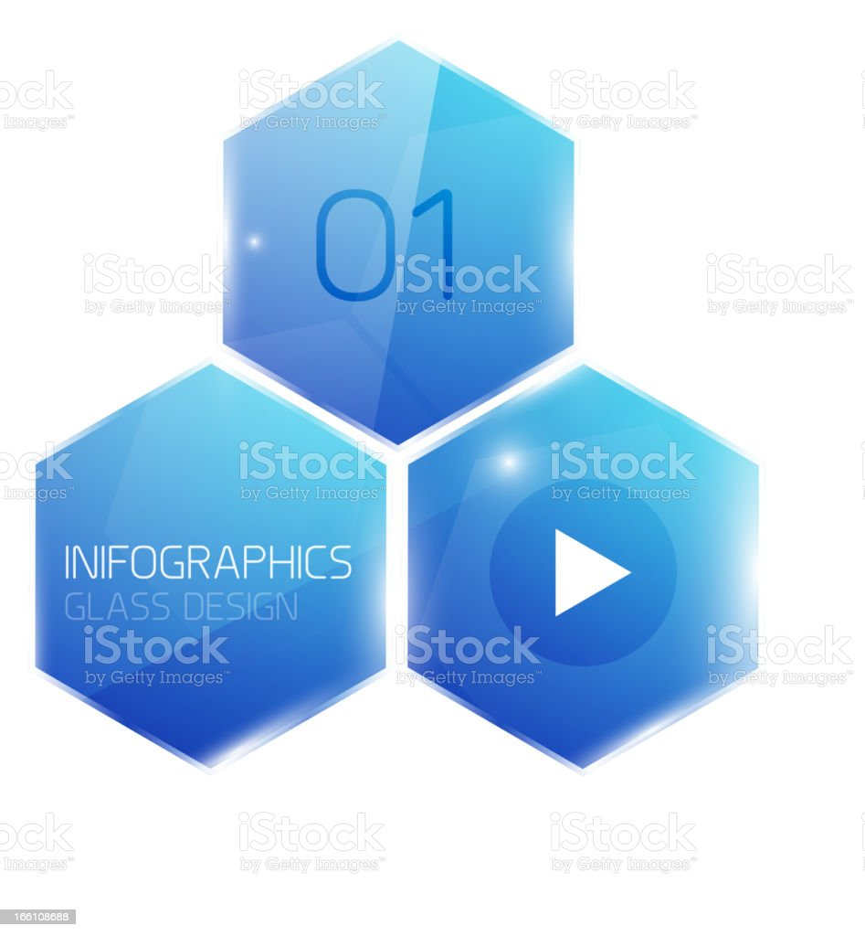 Glossy blue air infographic background royalty-free stock vector art