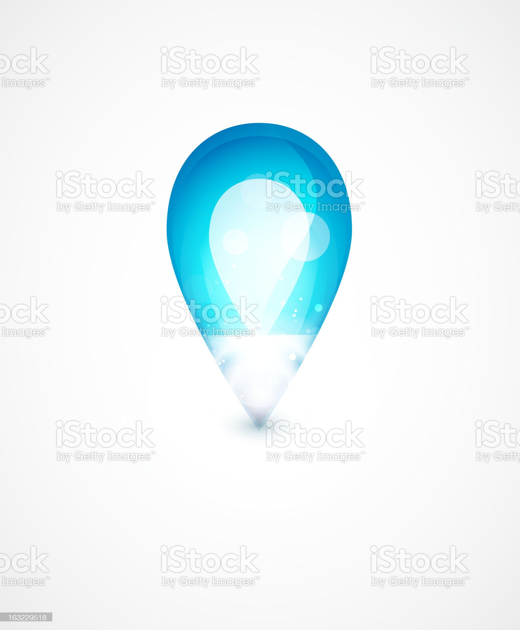 Glossy blue background royalty-free stock vector art