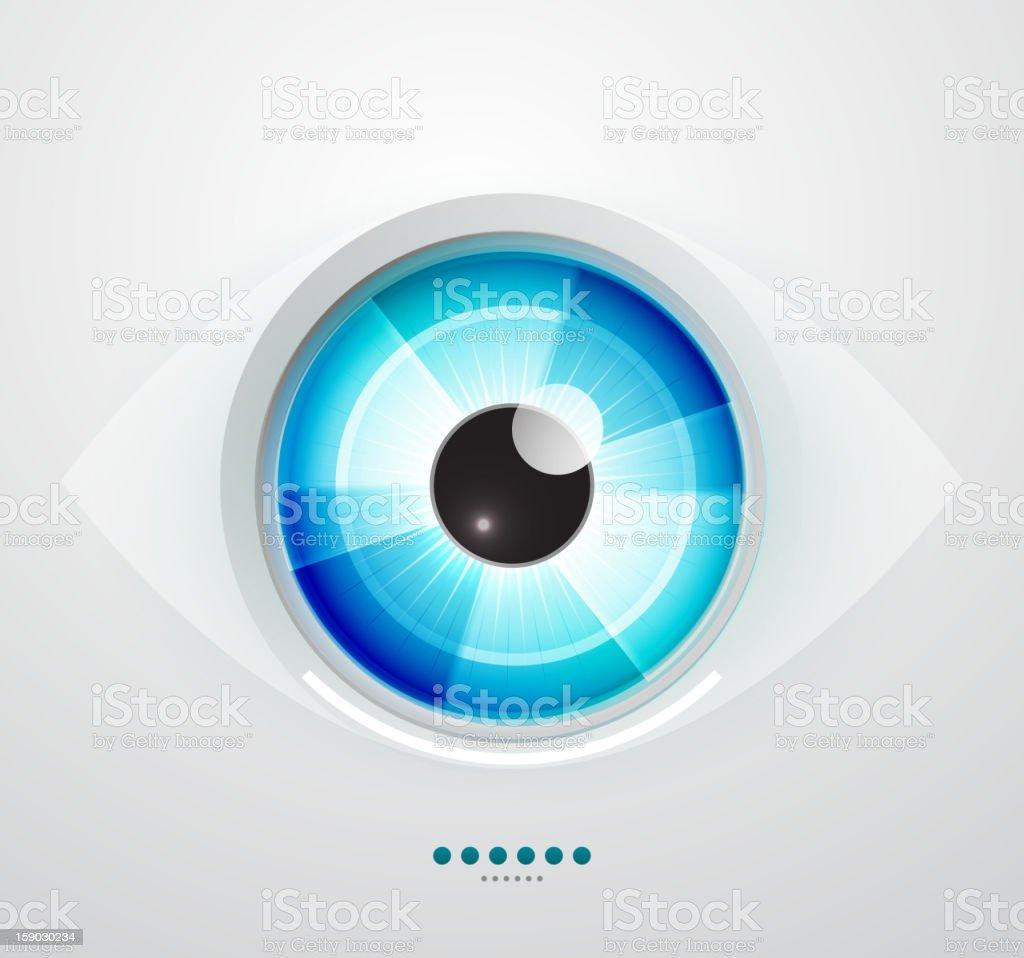 Glossy blue eye royalty-free stock vector art