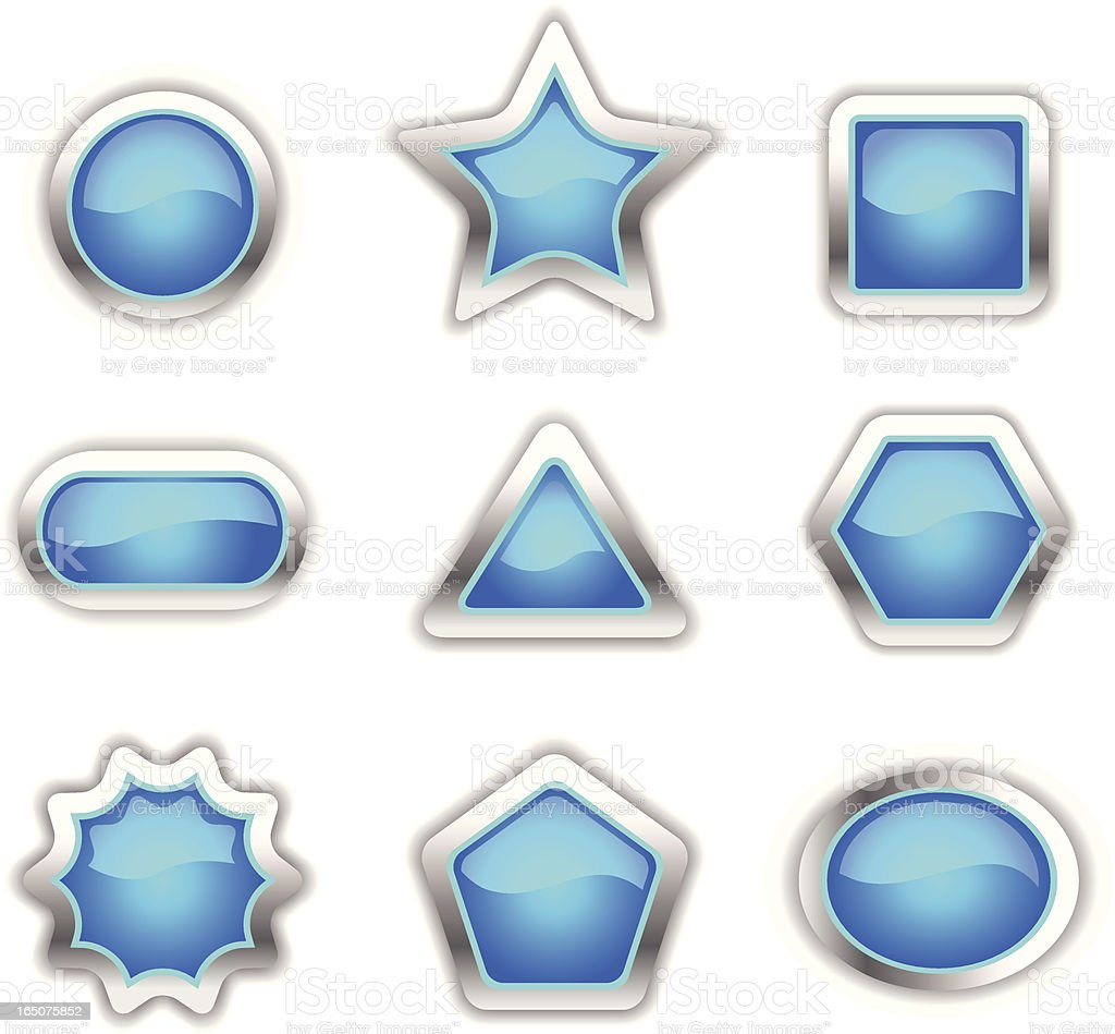 Glossy Blue Shapes royalty-free stock vector art