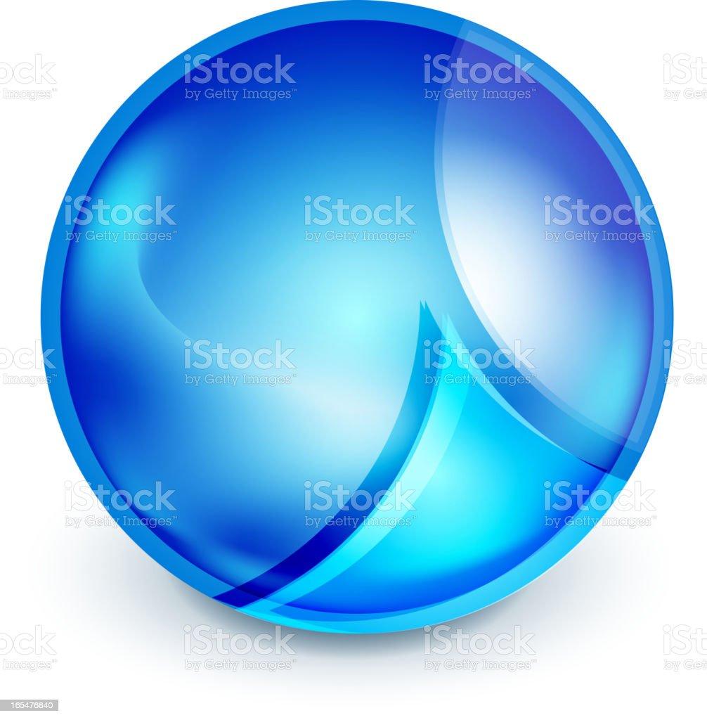 Glossy blue sphere royalty-free stock vector art
