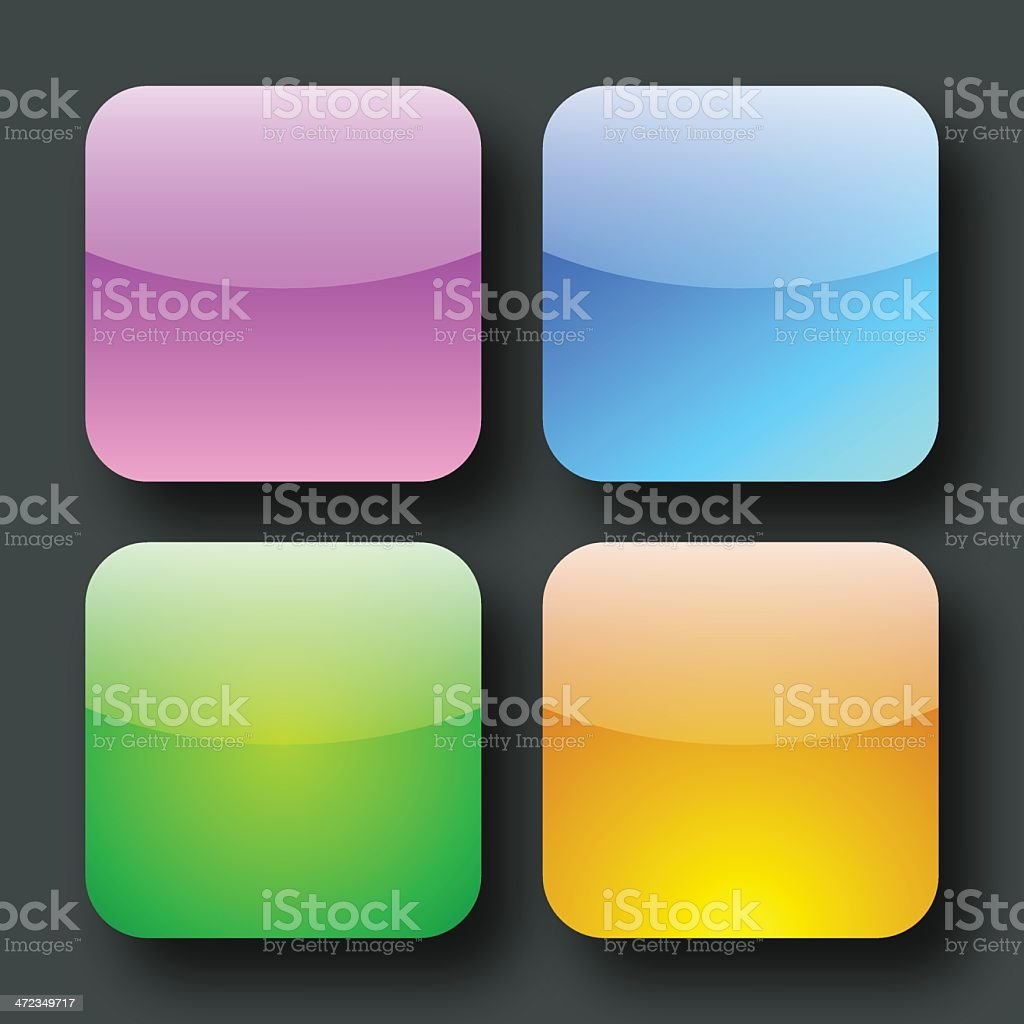 Glossy Button Set royalty-free stock vector art