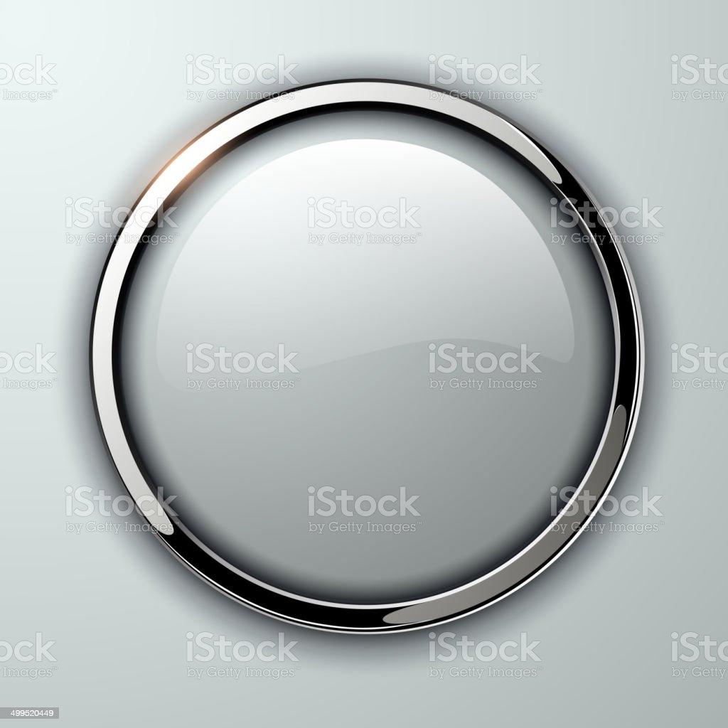 Glossy button vector art illustration