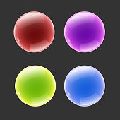 Glossy Buttons in Different Colors